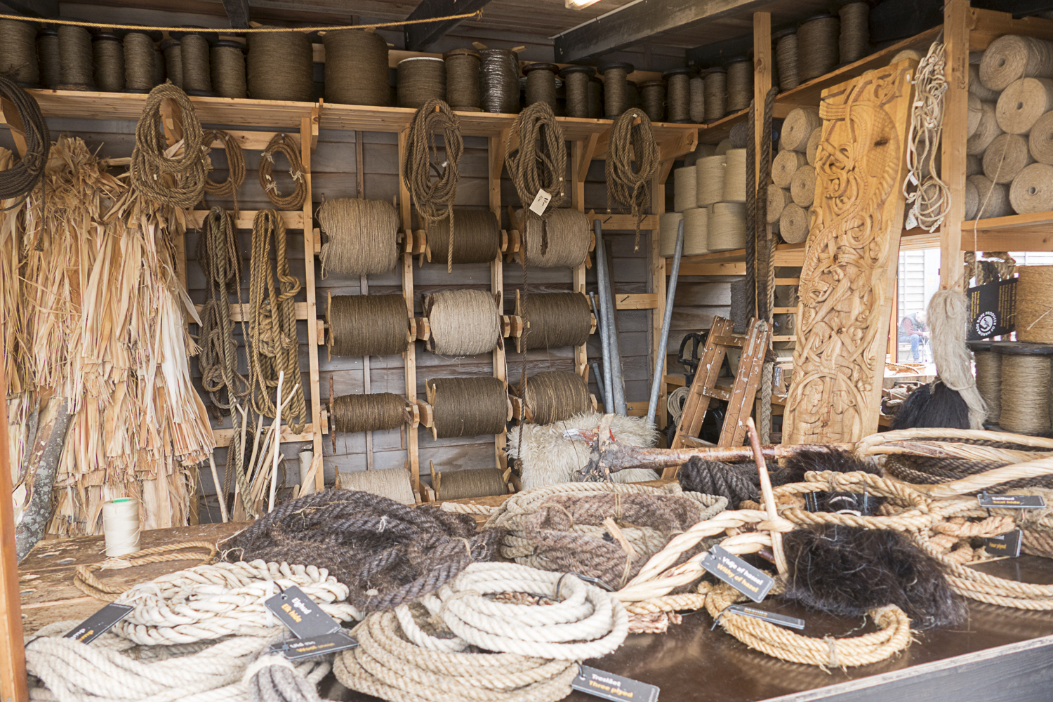 A display of nautical ropes