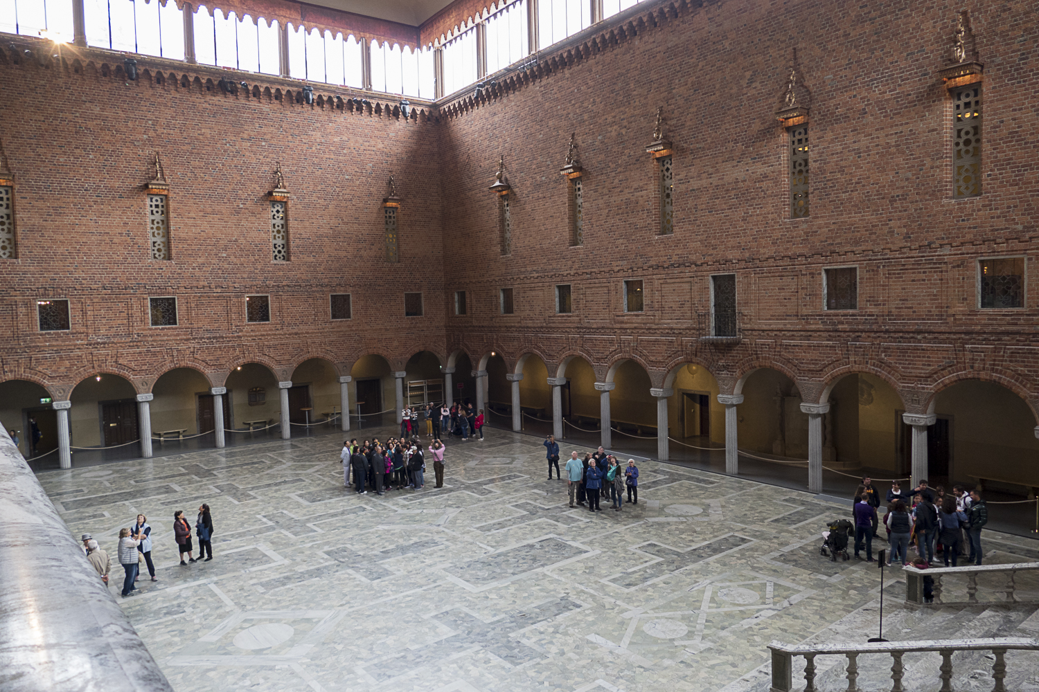 Courtyard of the Stockholm City Hall. This is the banquet hall for the annual Nobel Prize winners in December.