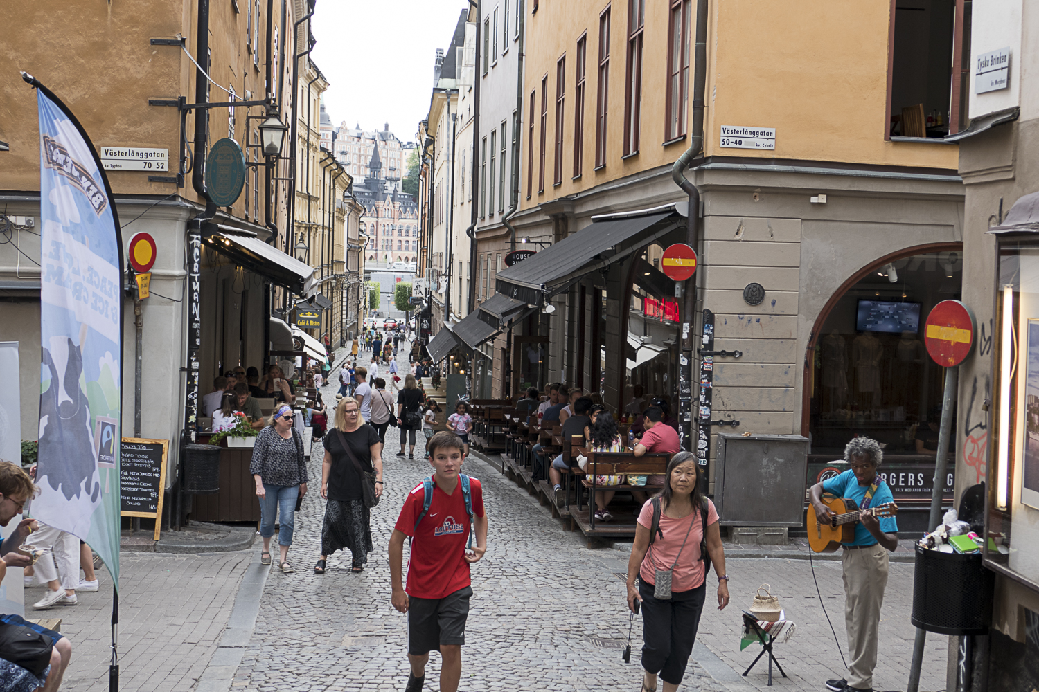 Typical street scene in Gamla Stan