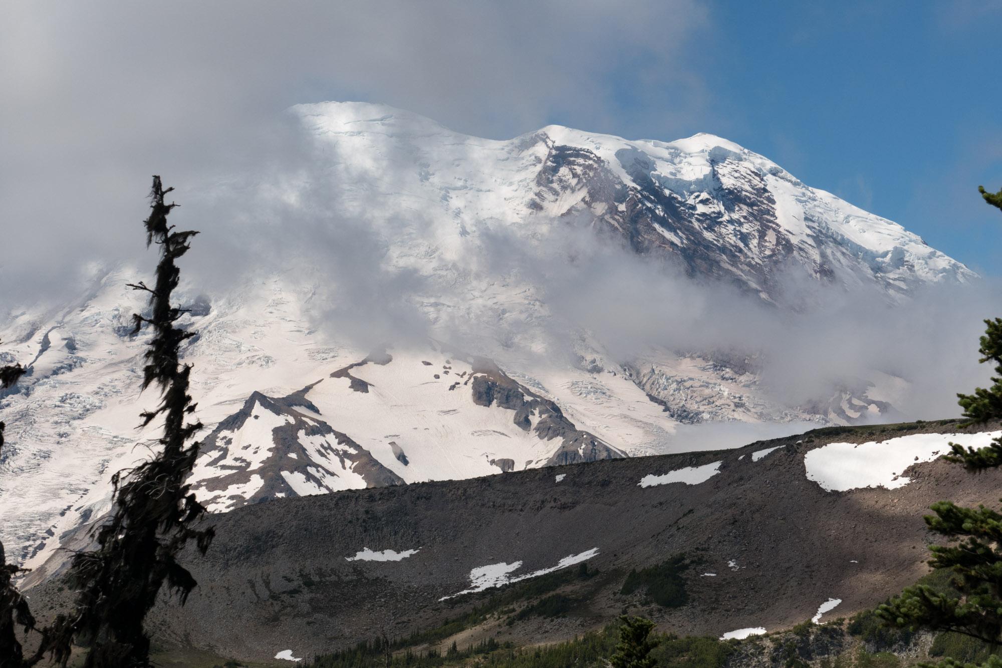 Mt. Ranier peeking through the clouds
