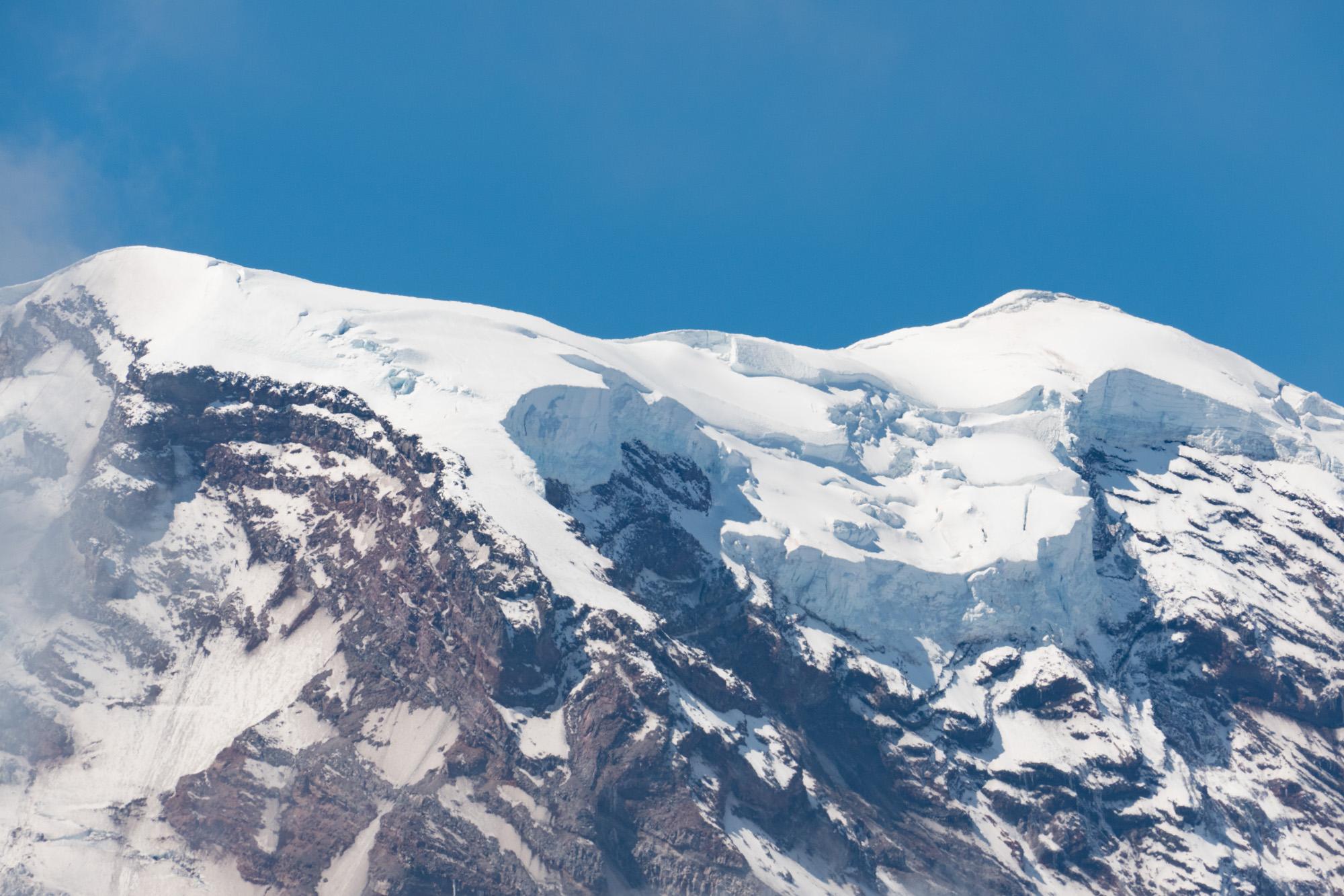Glaciers at the peak