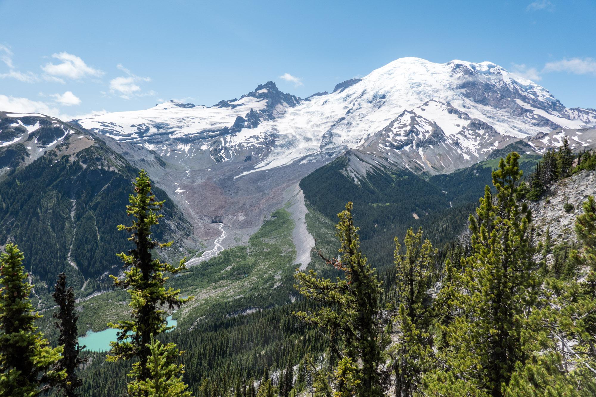 Northeast face of Mt. Ranier from Emmons Vista