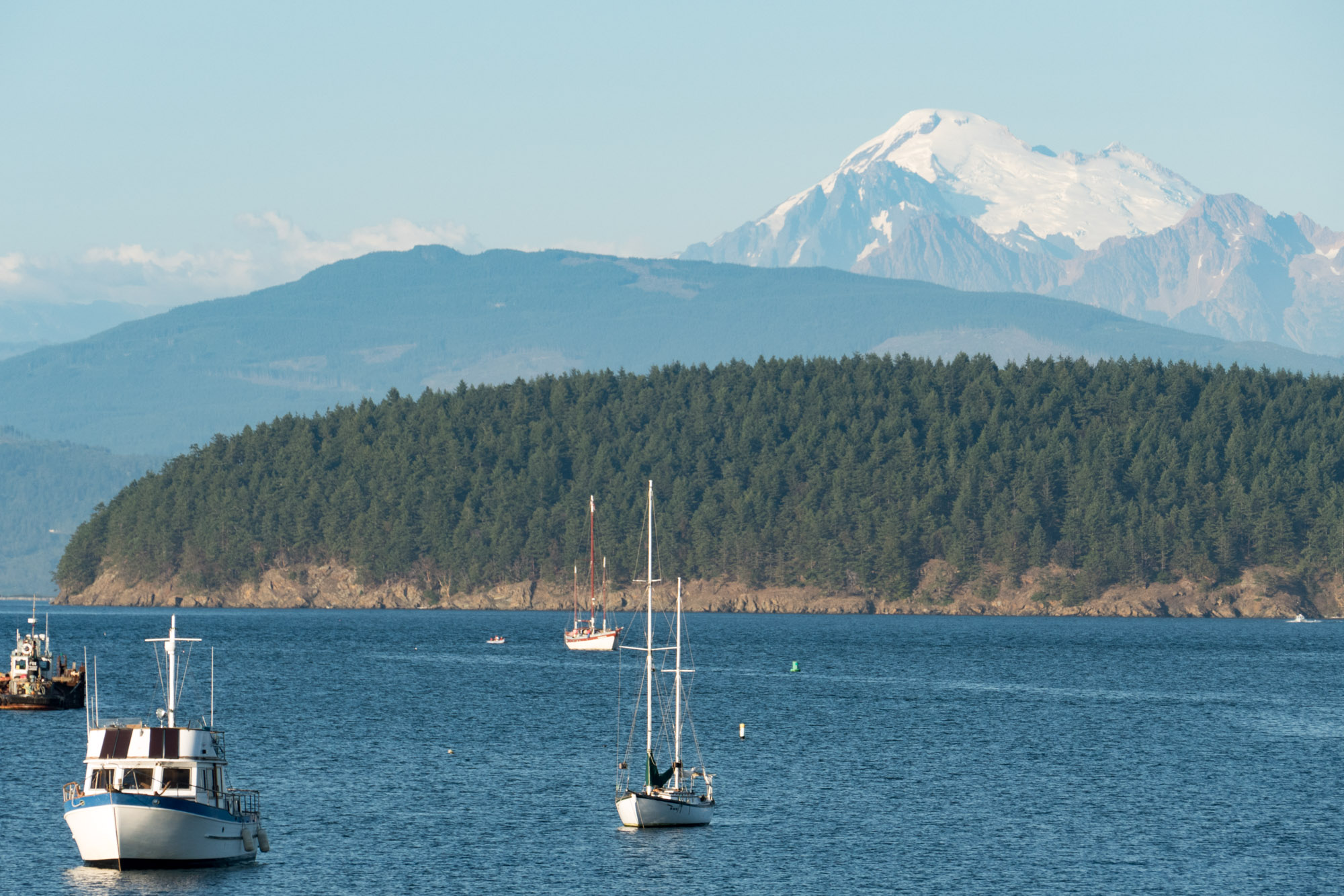 Mt. Baker from the Anacortes harbor