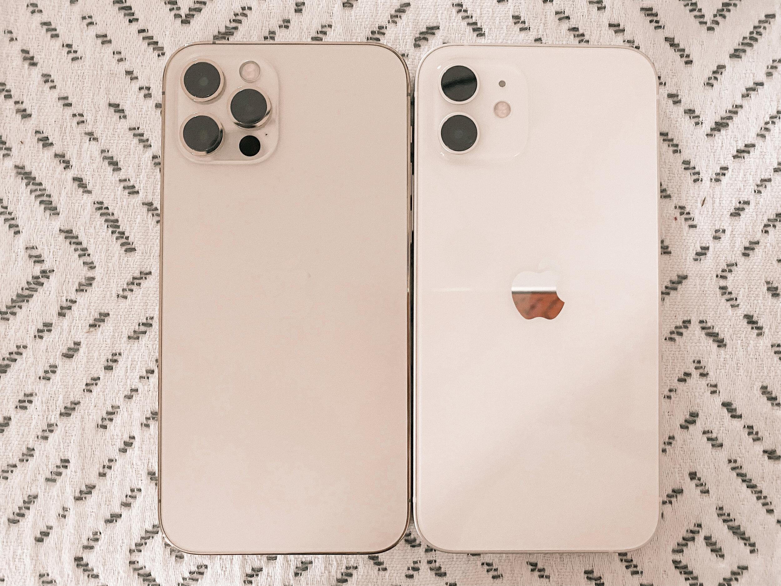 Left, iphone 12 PRO. Right, iPhone 12.
