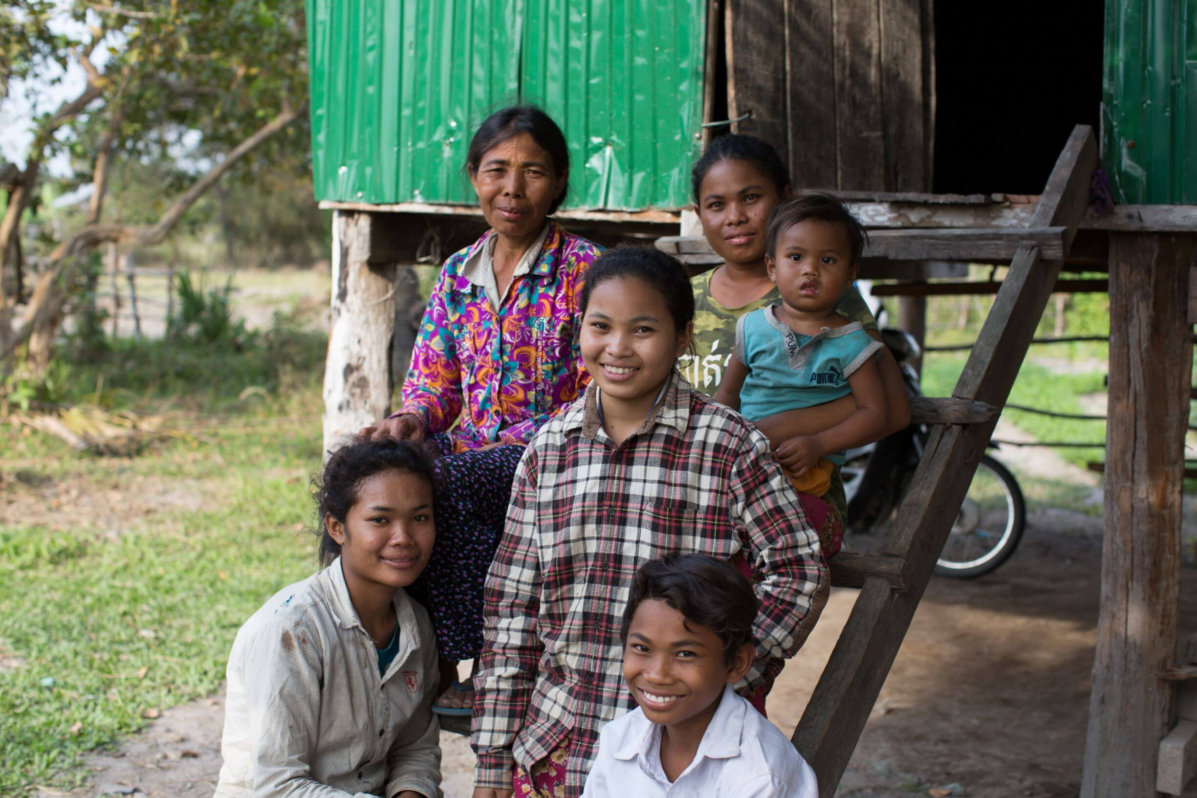 Two years after receiving a well, Phat and her family are healthy and smiling. They have a thriving business selling vegetables at the market, and the children are finally able to attend school.