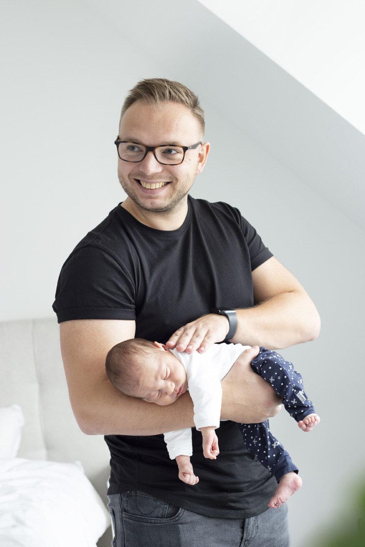 vader en kind fotoshoot
