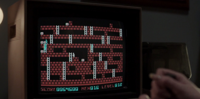 In Season 4, Episode 9 of FX's The Americans, Paige & Henry are seen playing Lode Runner. [2016].