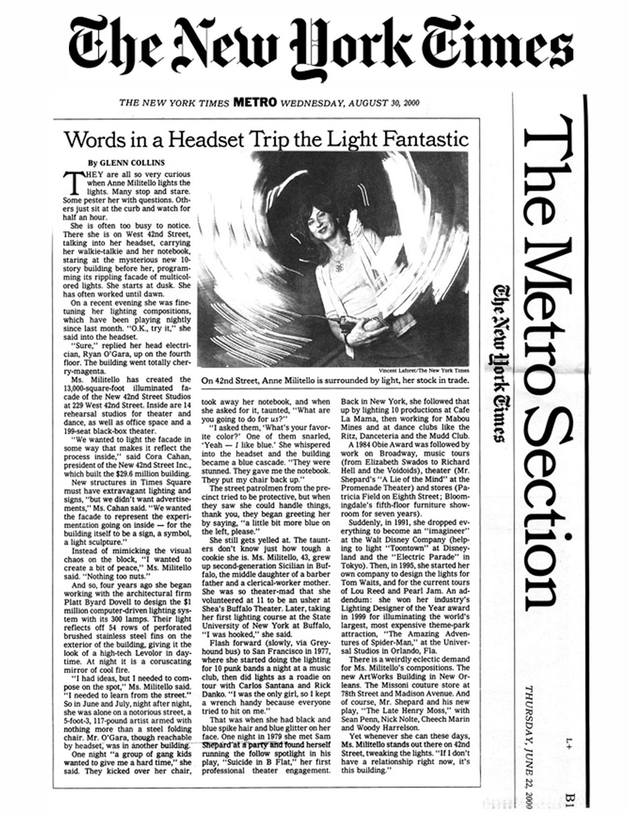 THE NEW YORK TIMES | AUGUST 30, 2000