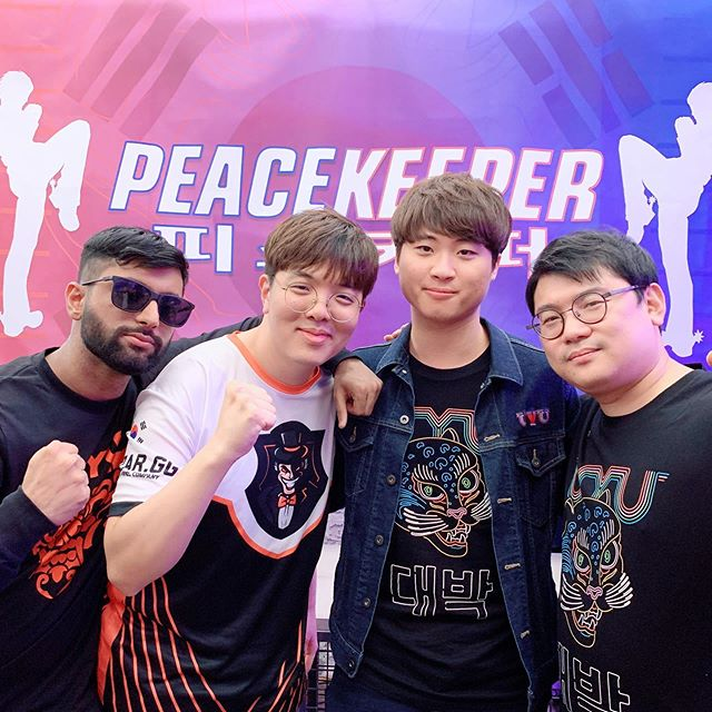 The commentary team for Peacekeeper Dojo in Seoul, Korea. They did an amazing job on the Korean & English streams. Extra kudos to LowHigh & CBM for competing and commentating!