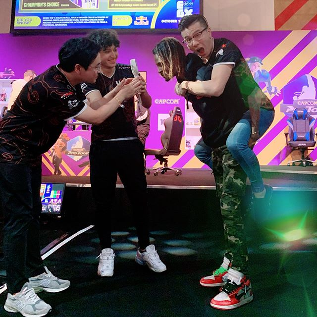 Caption this 😲  #sfv #capcom #egx #london #fgc