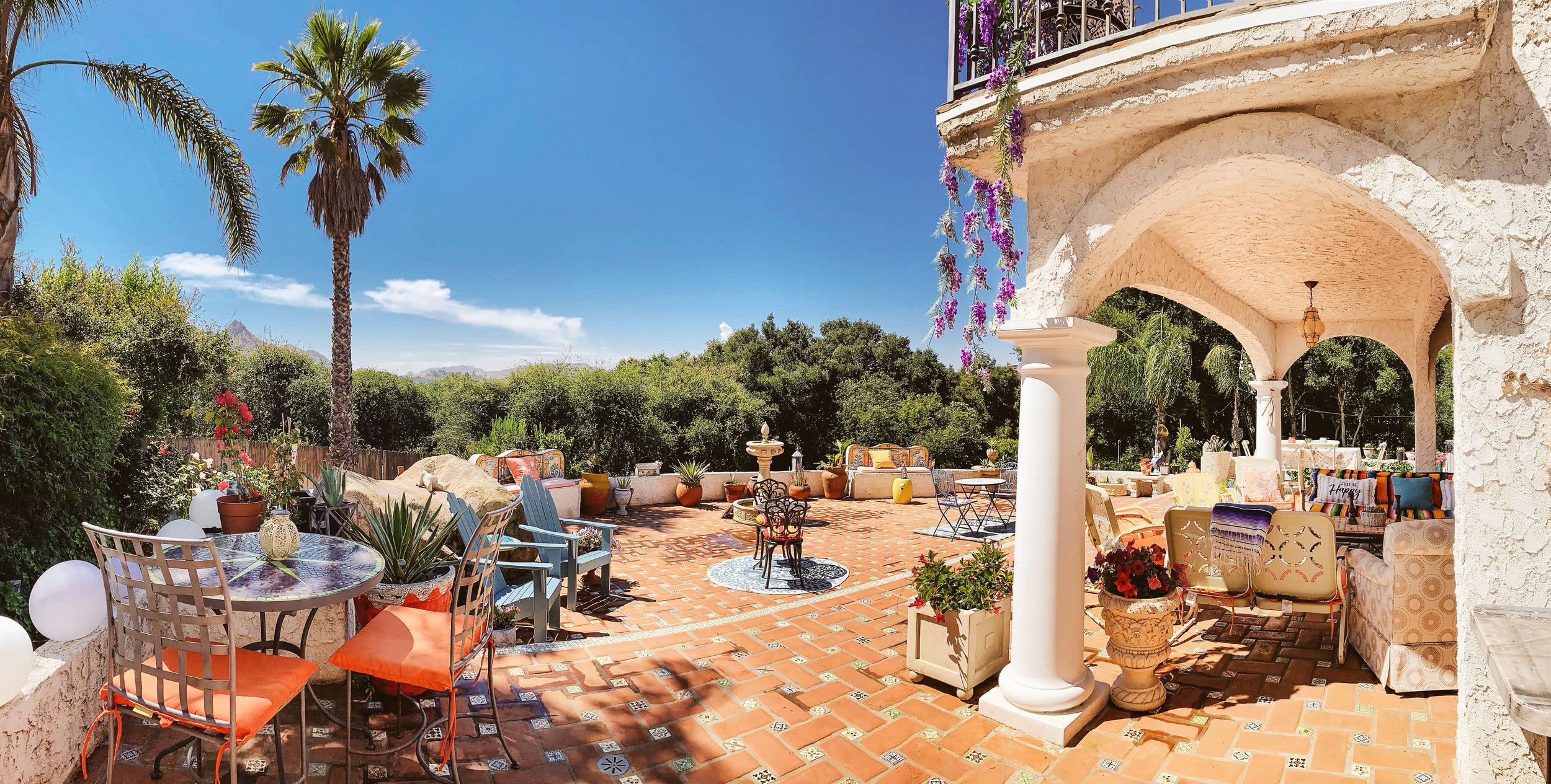 The Malibu Retreat Italian Tile Patio
