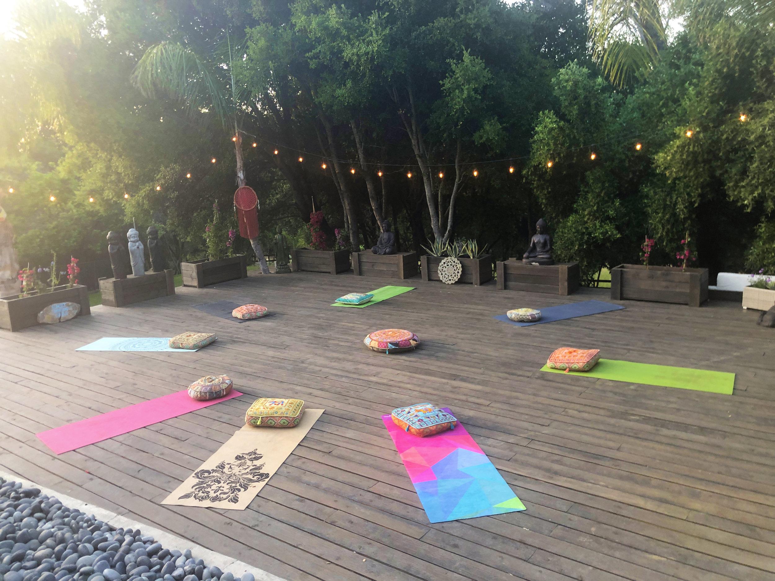 The Malibu Retreat Yoga Deck