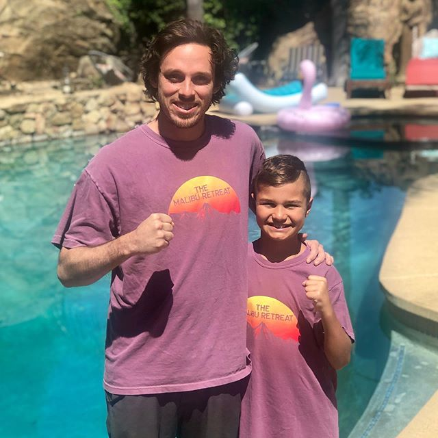 We had an awesome time hosting Axel and his family @aprilhonnen at @themaliburetreat this summer. Here's our location manager @s_doc with his new friend, shortly after teaching him how to backflip! 🌴💦 - #weddingvenue #eventvenue #livemusic #production #music #photo #travel #nature #vacation #airbnb #lifestyle #malibu #losangeles #california #beach #ocean #wanderlust #relax #adventure  #yoga #yogaeverydamnday #yogi #yogalove #yogainspiration #namaste #meditation #lifesourceretreats #themaliburetreat