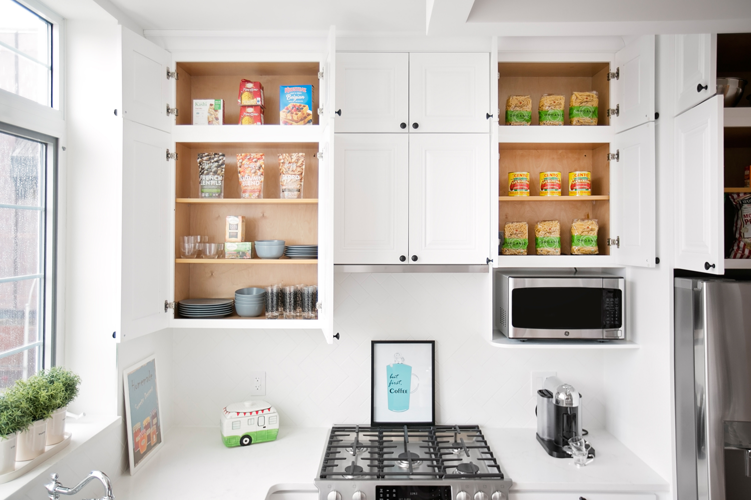 """No cluttered kitchen here… - """" A place for everything and everything in its place."""" The notion that everything should have a place to be stored and that it should be tidily returned there when not in use.There are plenty of cabinets for storage in these apartments."""