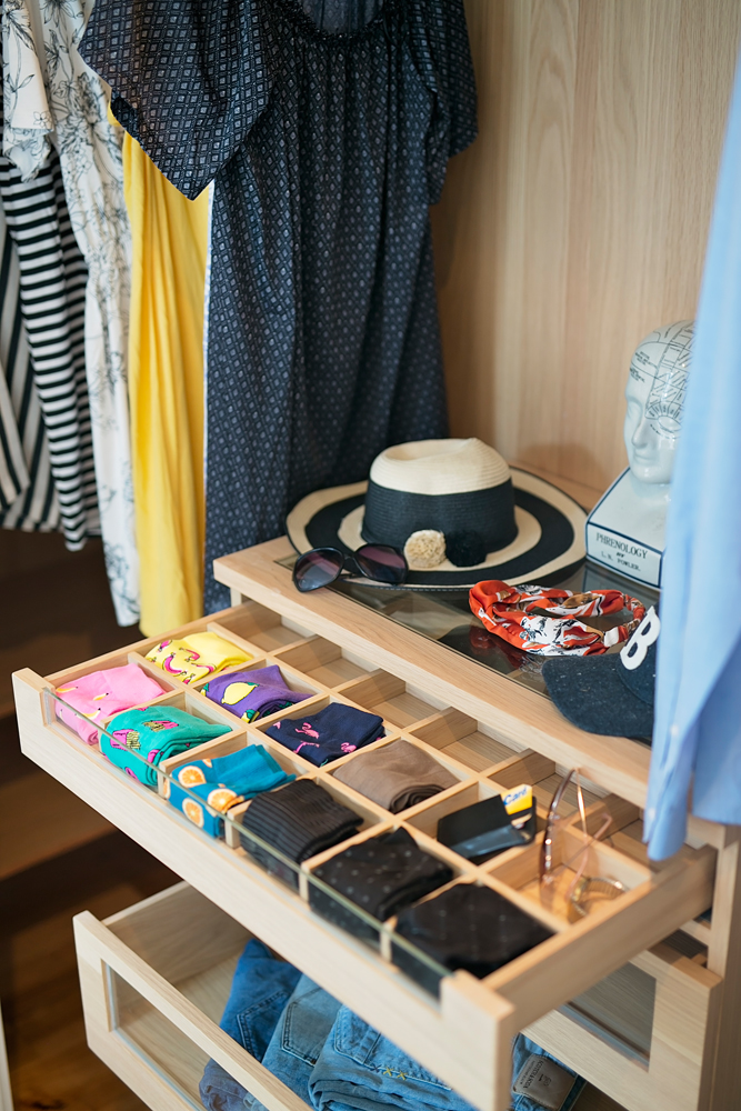 An organized closet is your shelter from the chaotic storm that is your cluttered busy life. These closets are custom built to organize every item in your wardrobe .