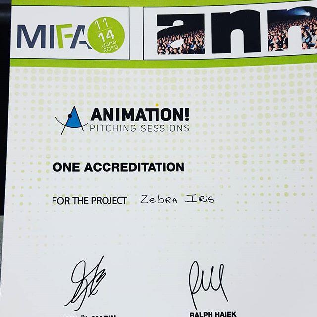 ❤️❤️❤️❤️❤️ Zebra Íris premiada com um registro no MIFA - annecy!!! Muchísimas gracias @animationvs!!