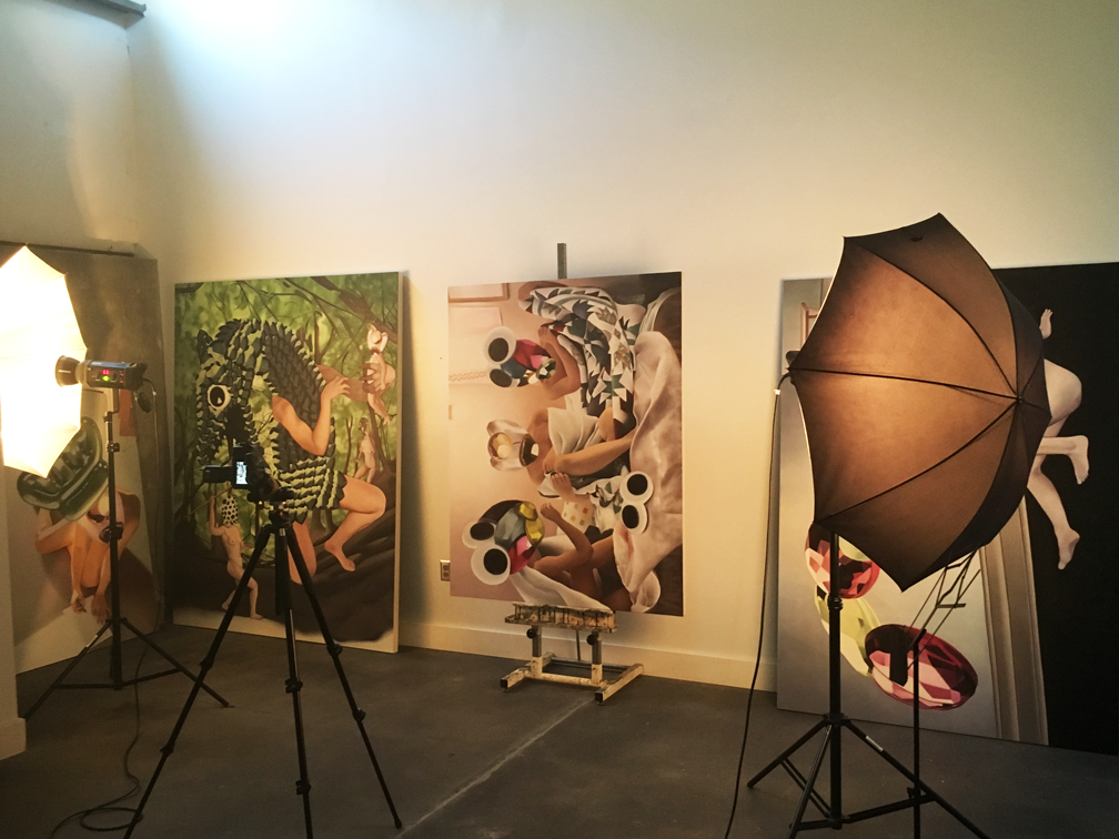 Documenting Anne's work at Amplify Arts with Jeff Mack.