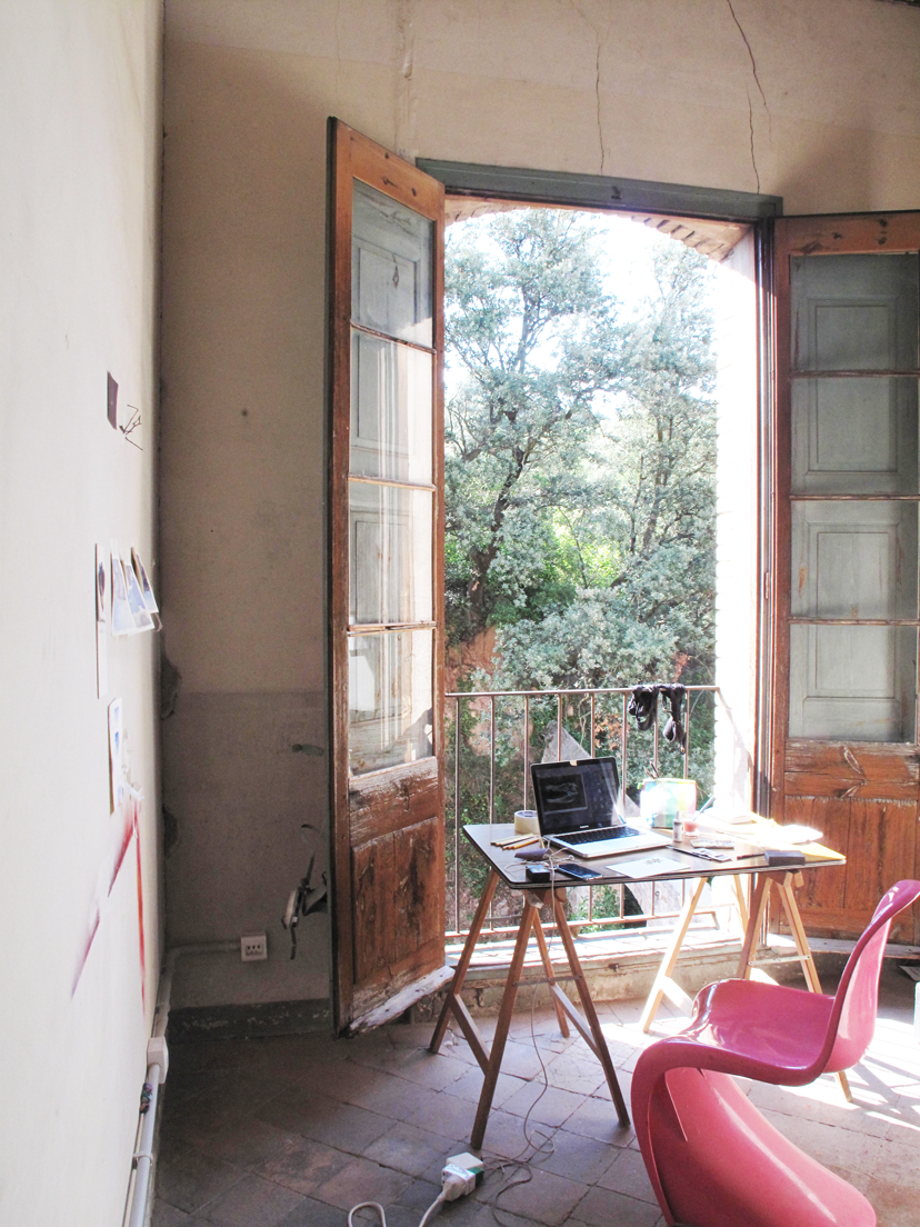 Anne's room at the Konvent Residencia, Spain.
