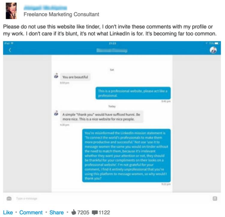 NSFW LinkedIn Status Update - Mindi Rosser