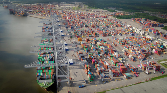 The Georgia Ports Authority plans to double capacity at Garden City Terminal to 11 million twenty-foot equivalent container units per year. In Fiscal Year 2019, port-related industries announced $5 billion in new investment and 12,000 new jobs coming to Georgia. Find print quality images    here   . (Georgia Ports Authority)