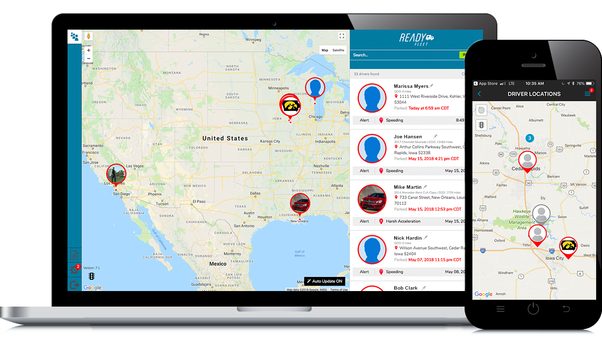 Real Time Location Tracking - Always know where your drivers are throughout the day and route vehicles with current traffic in mind, through real-time GPS tracking and traffic awareness.