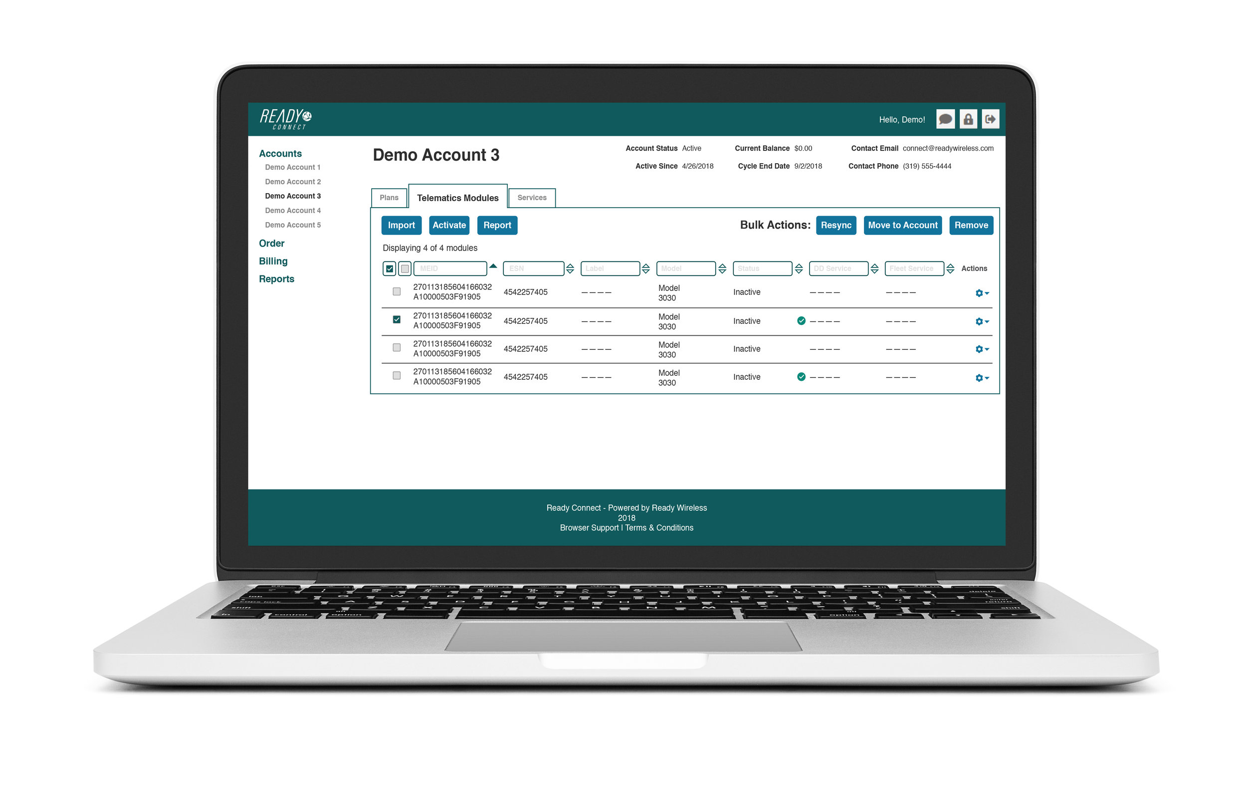 Billing, inventory management, provisioning, order management, reporting, and online help and system documentation is all contained in one easy-to-use portal.