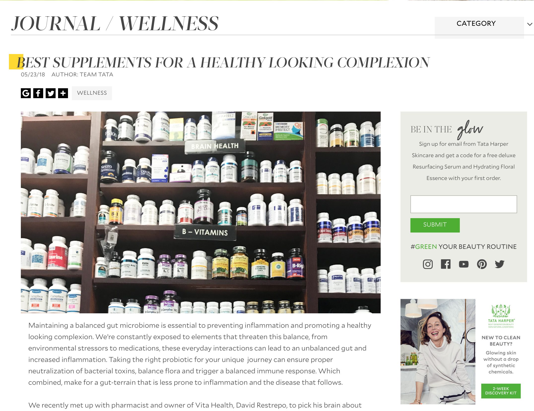 Read about supplements to know about for a healthy complexion