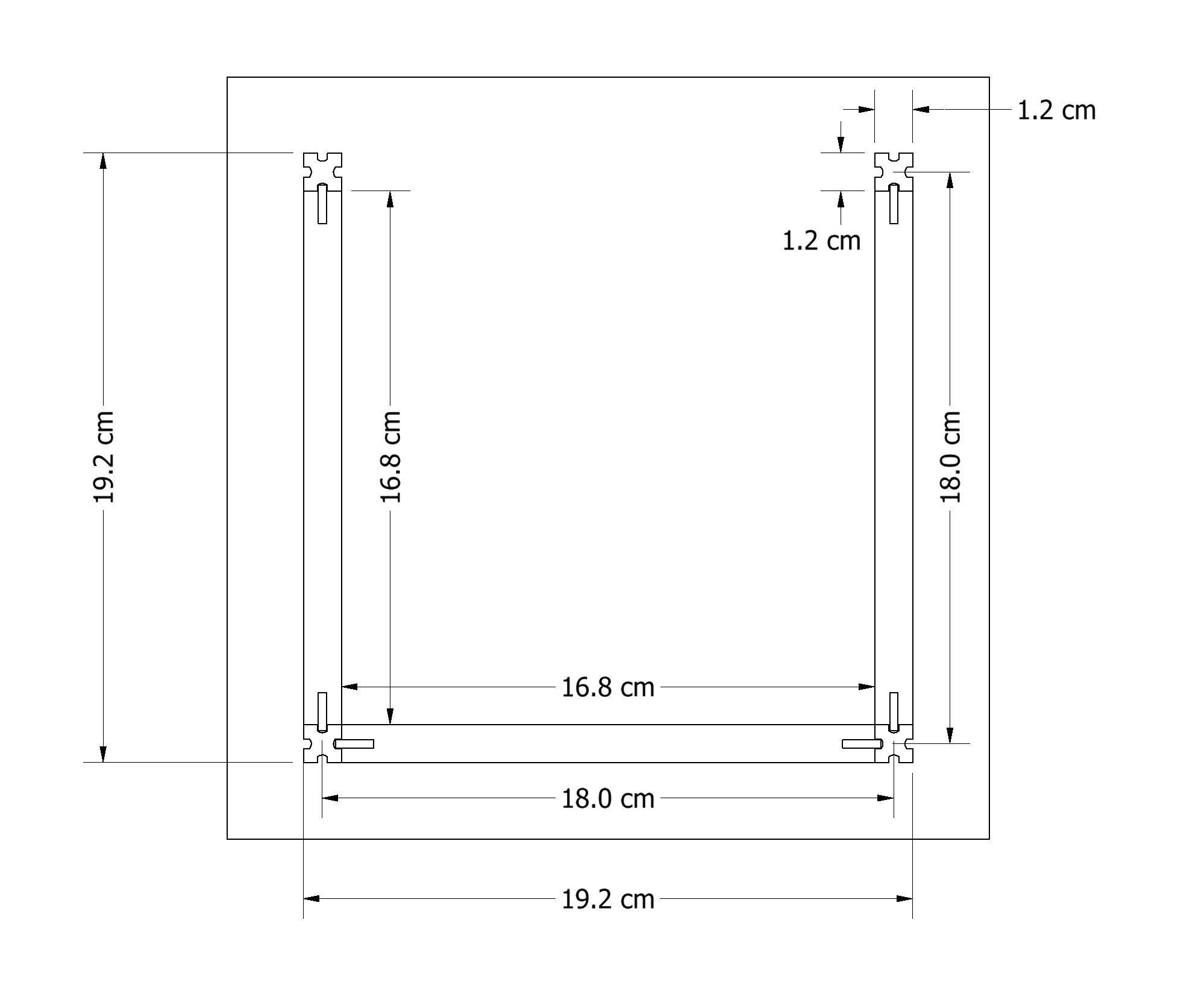 Maze dimensions schematic.