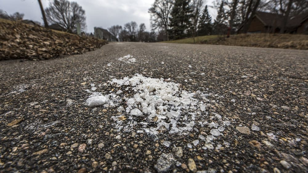 Photo Credit:  Paul Middlestaedt  |  MPR News    Minnesota has a salt problem. But at home, there are simple ways to reduce your impact on the water and soil.