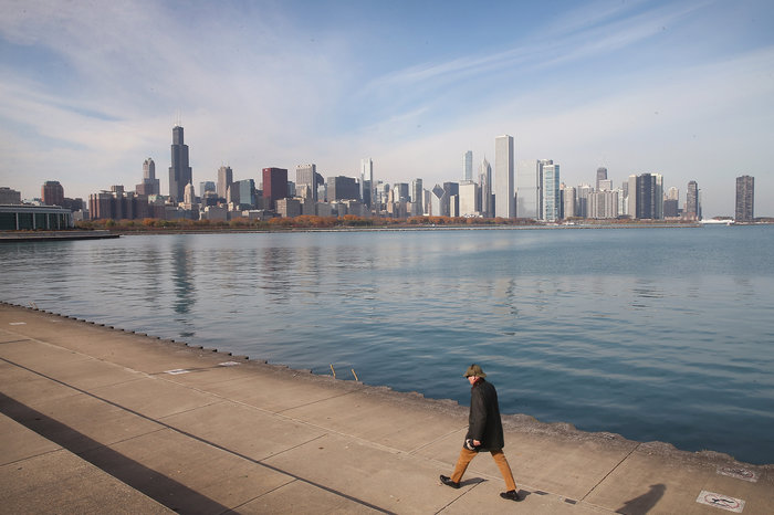 The crisis of water affordability is especially acute where you might not expect it: In cities like Chicago, which overlooks the abundant fresh water of Lake Michigan.  Scott Olson/Getty Images
