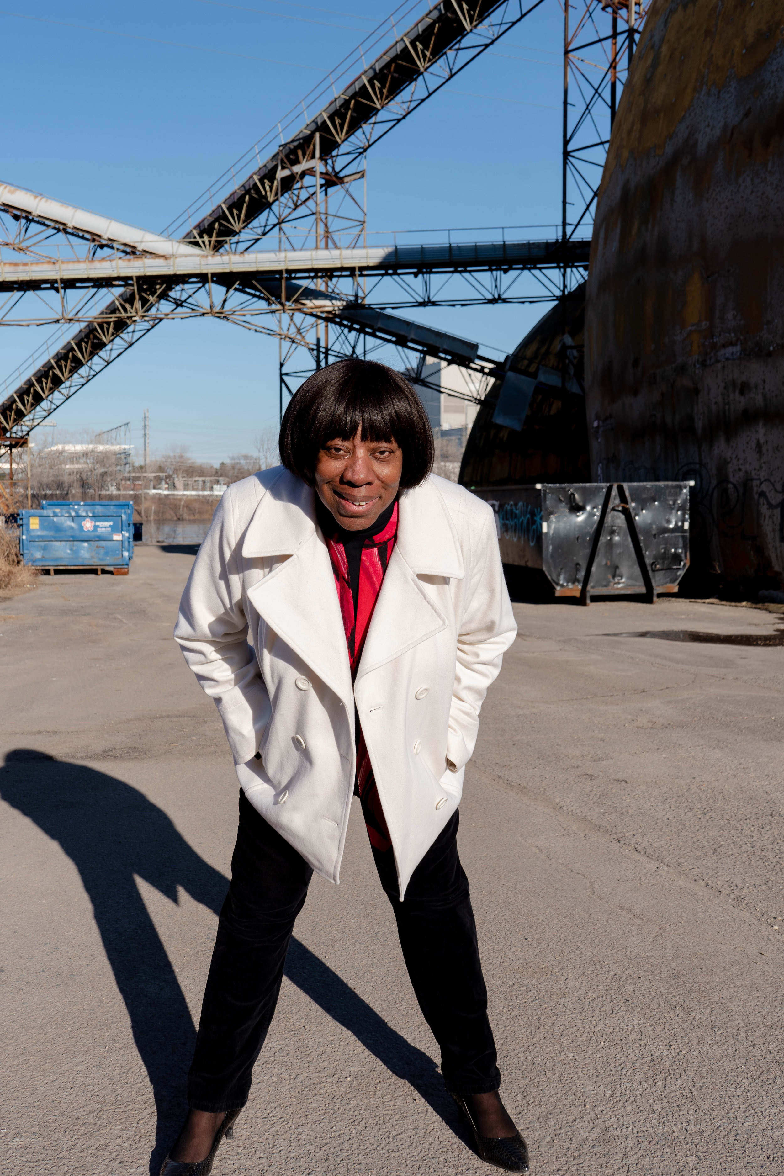Catherine Fleming stands for a portrait at the Upper Harbor Terminal site.