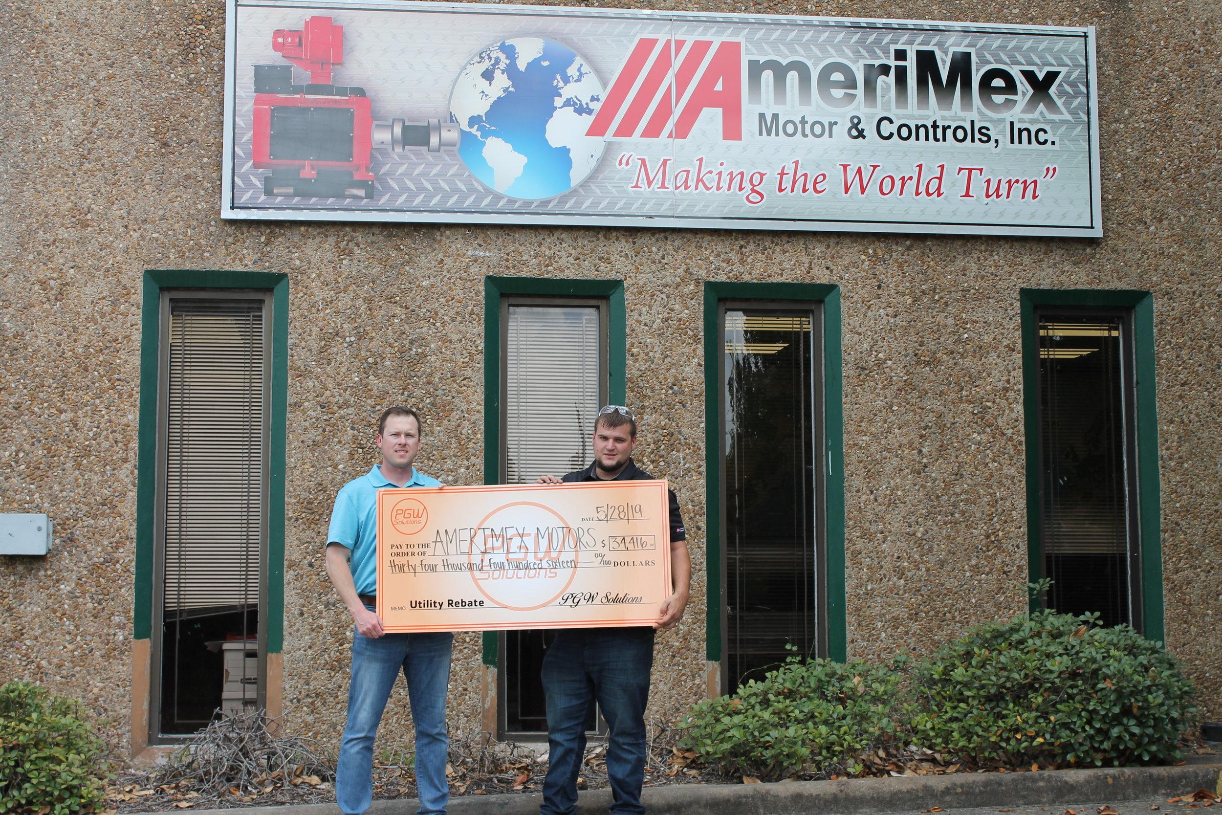 AmeriMex Motor & Controls, Inc. -  $34,416