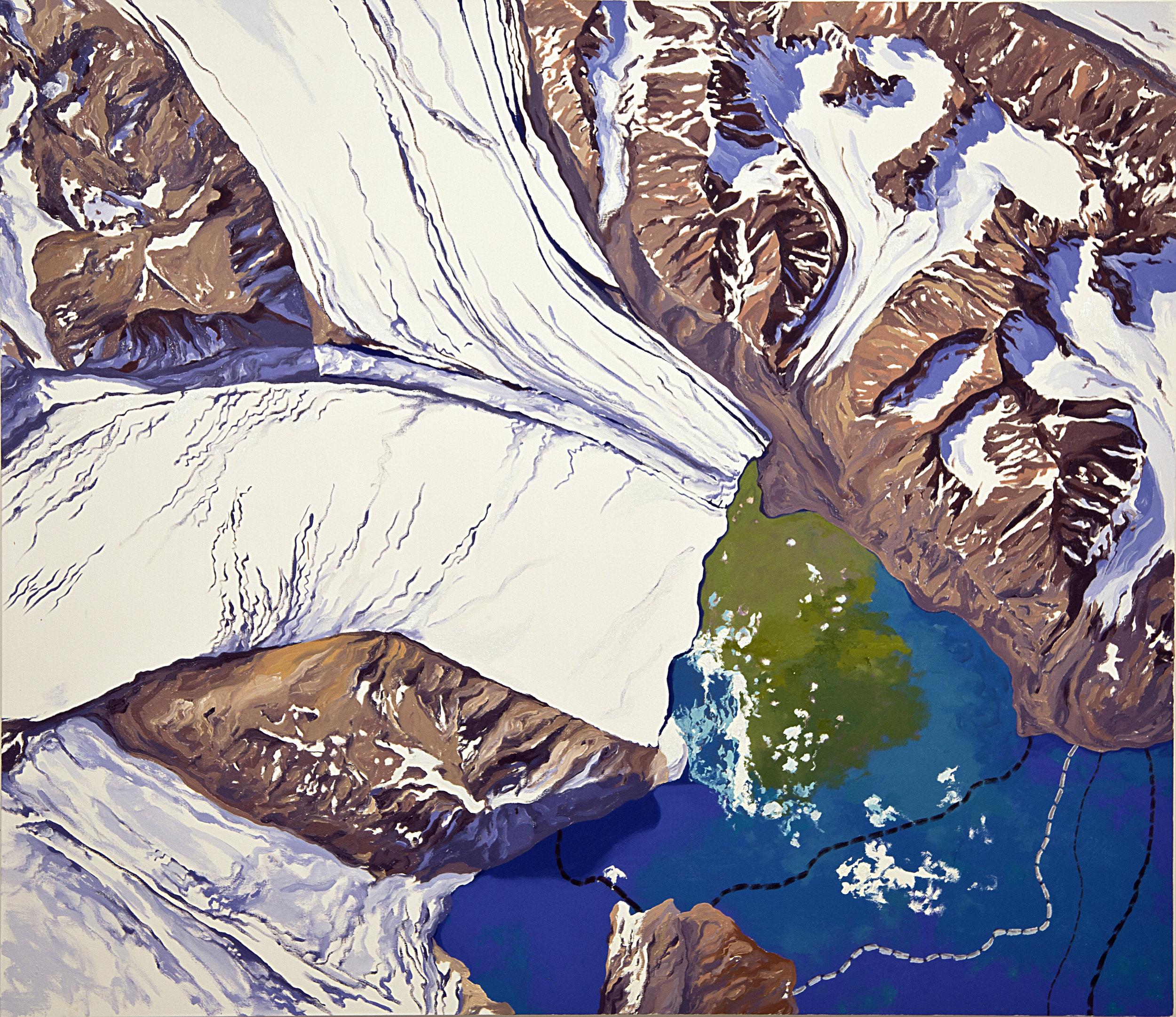 Ortophoto Kongsfjorden 1869-1990 (after NPI)