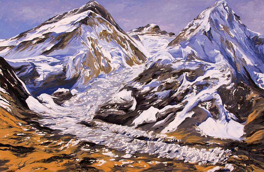 Khumbu Icefall Everest, II, 2009, after David Breashears