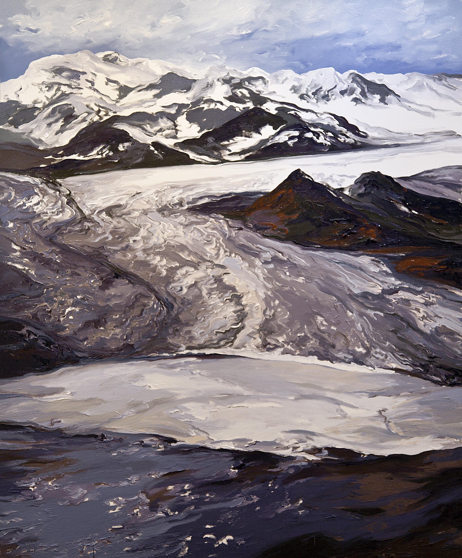Columbia Glacier Triptych I (figure 2), 1986, after Robert M. Krimmel