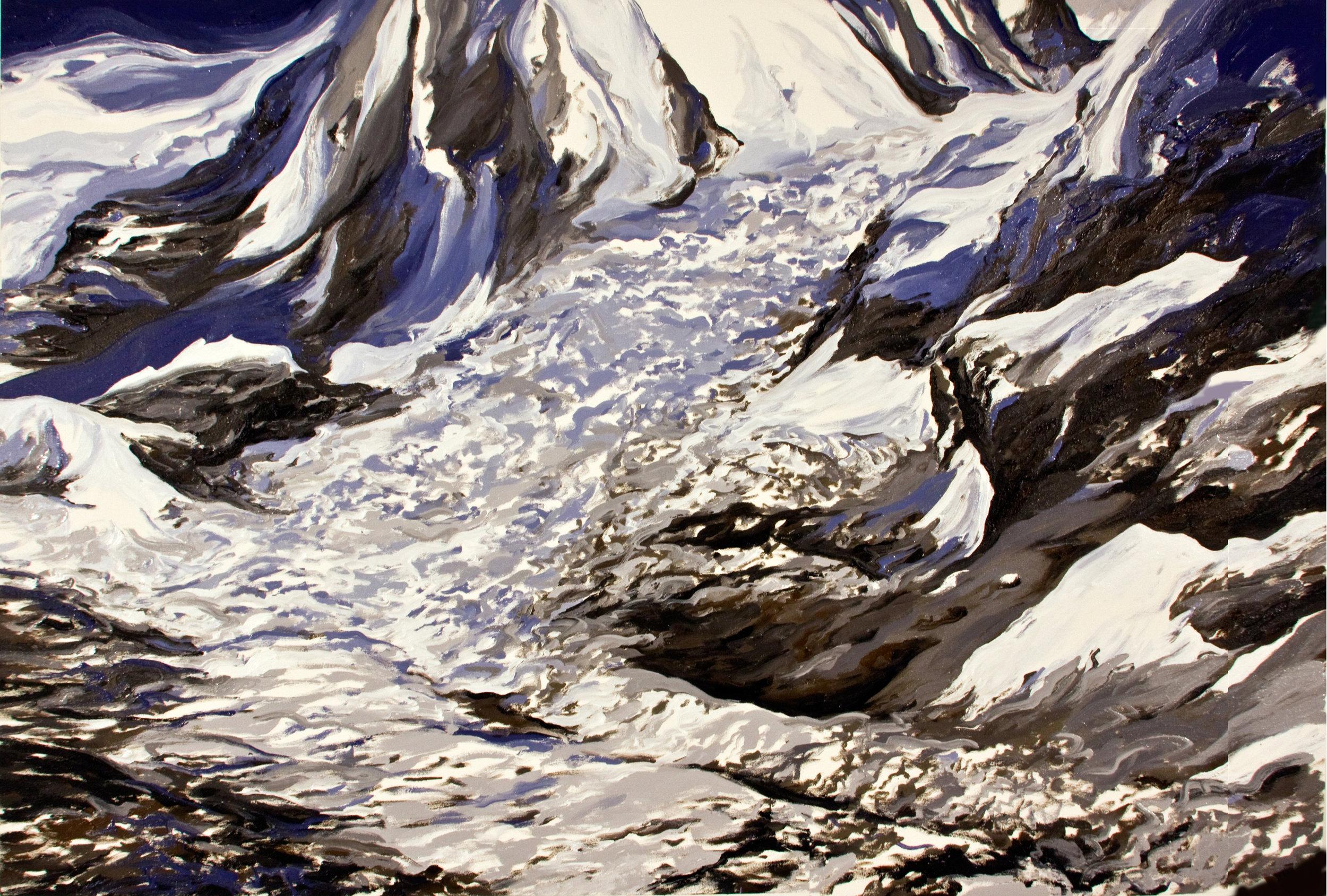 Khumbu Icefall II, 2009, after David Breashears