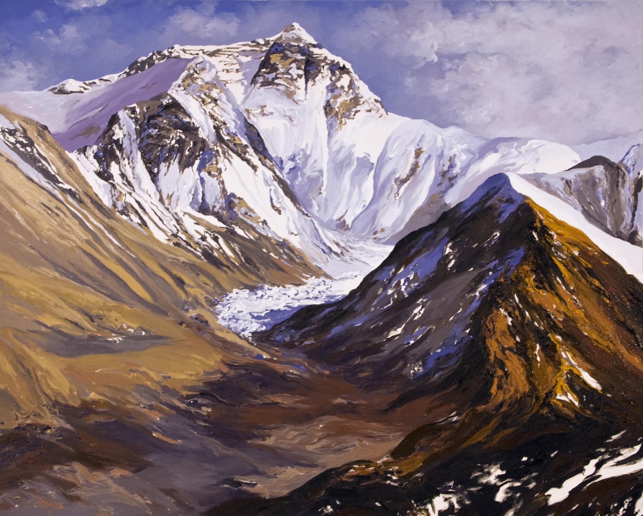 #3, Main Rongbuk Glacier, Future, after Diane Burko
