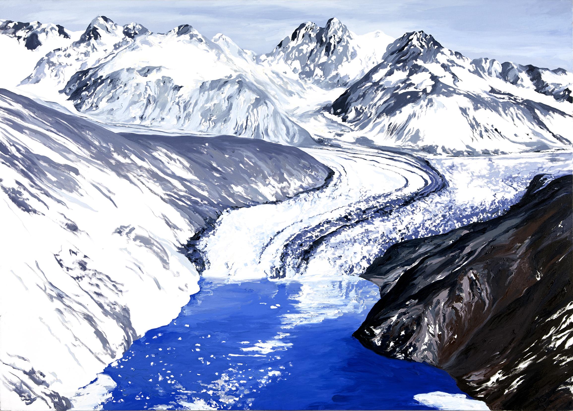 Nunatak Glacier 1938, after Bradford Washburn