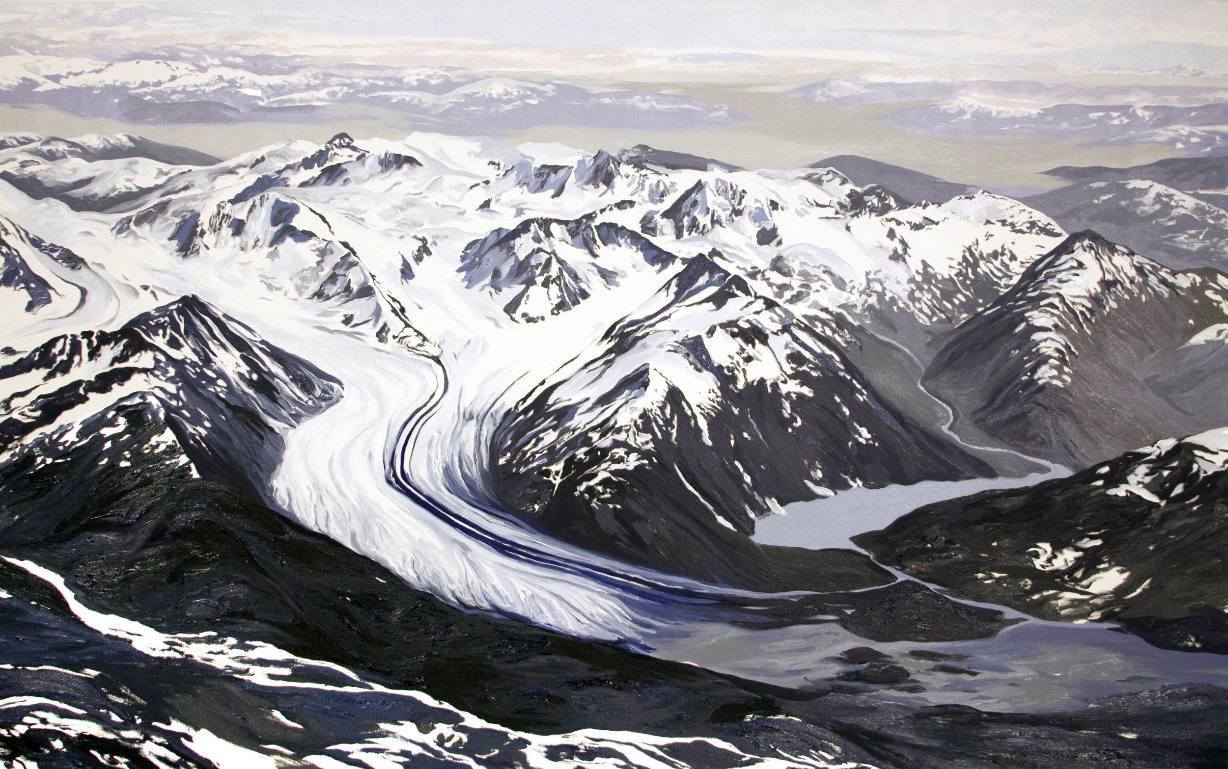 20 Mile Glacier 1938, after Bradford Washburn