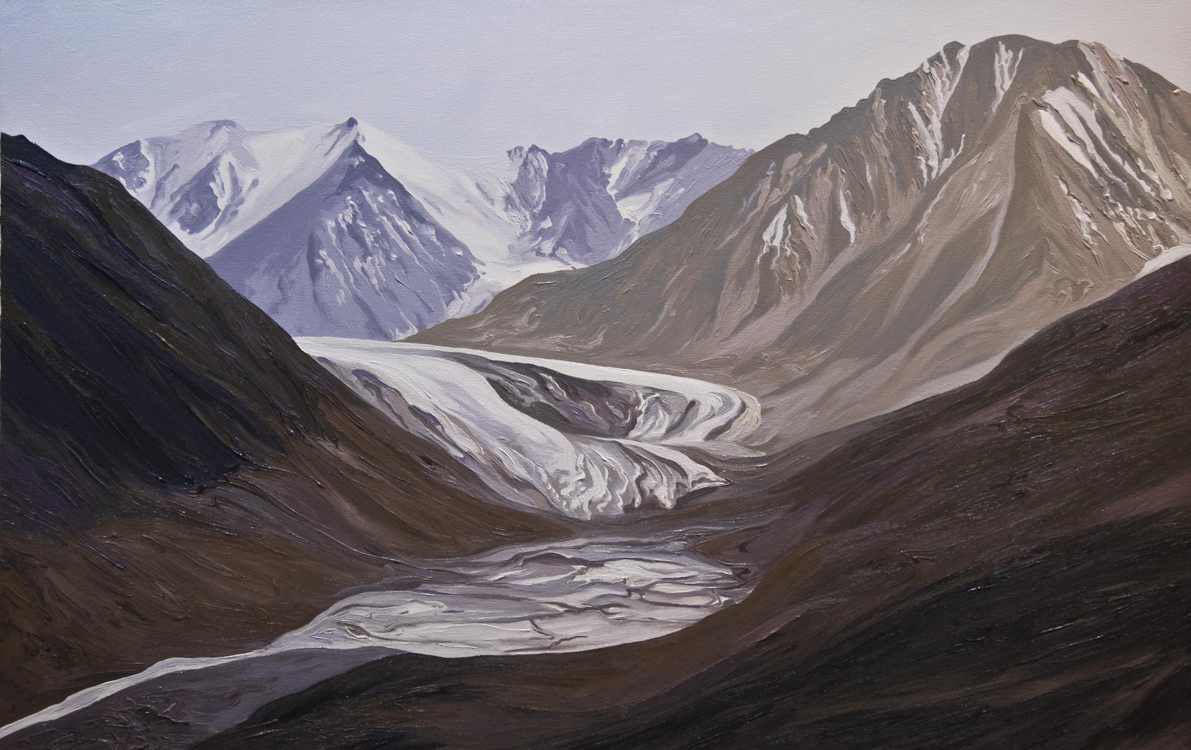 Okpilak Glacier #2, 2004, after Matt Nolan