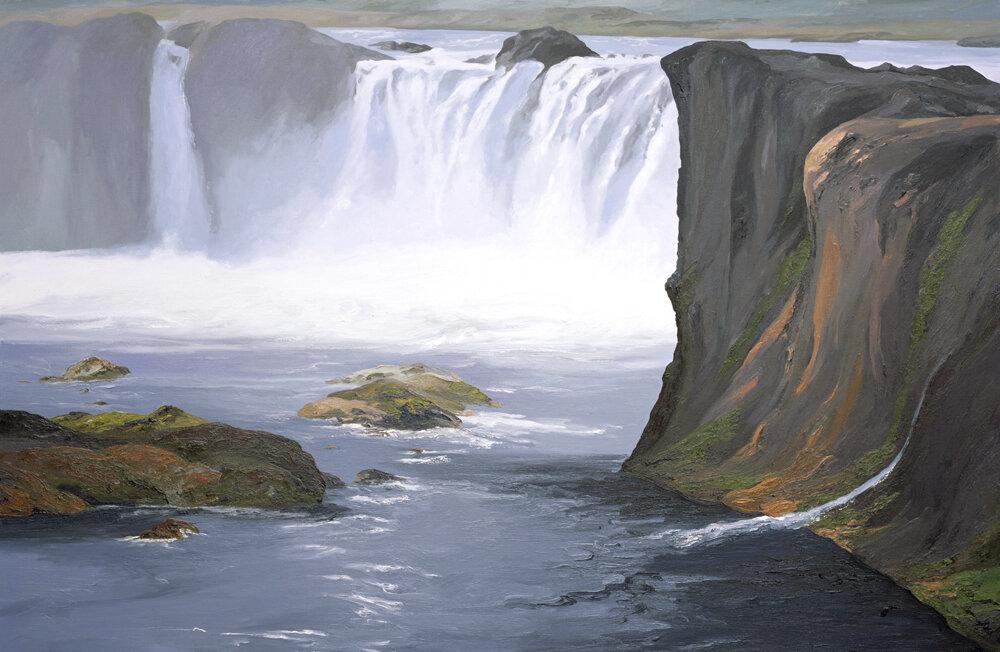 """Godafoss 2, 48""""x74"""", 2003"""