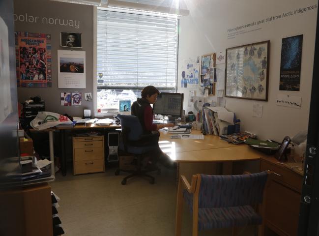 Ann Kristin in Office