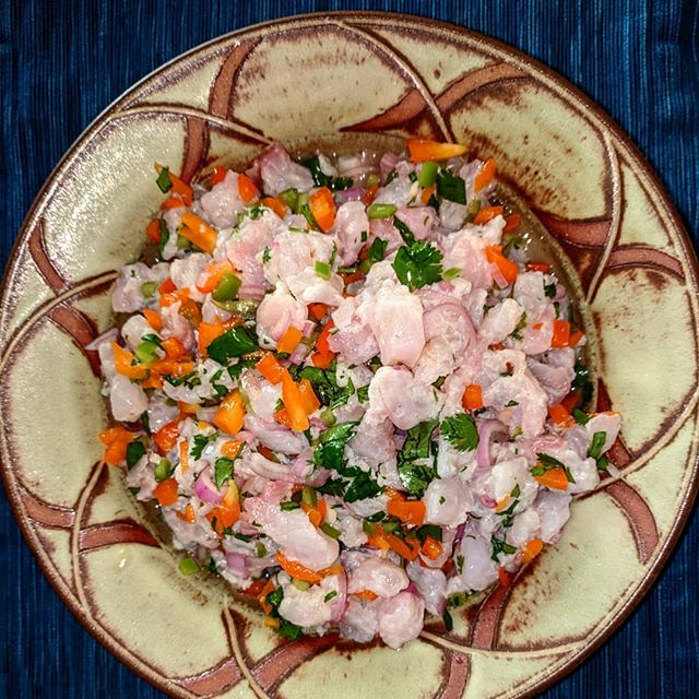 Ceviche courtesy of beautiful lingcod from @oregonfishco