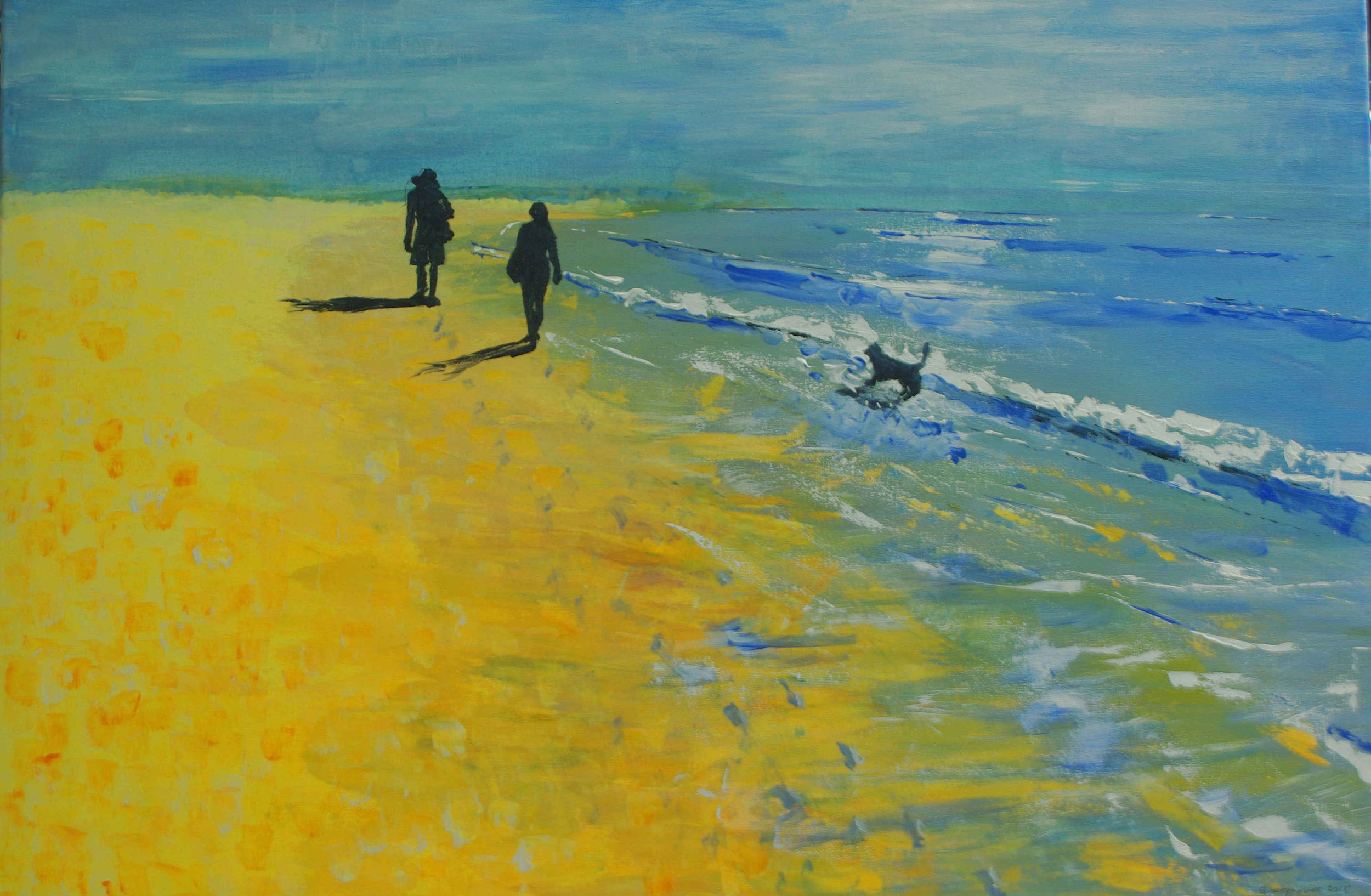 Beachwalkers and Dog
