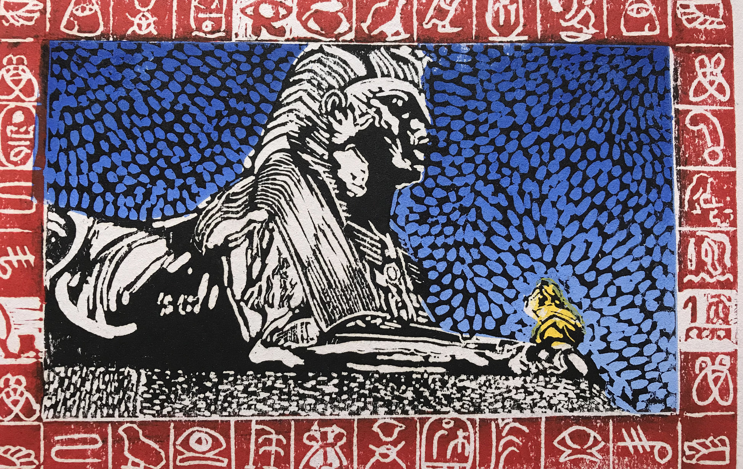 Sphinx and girl