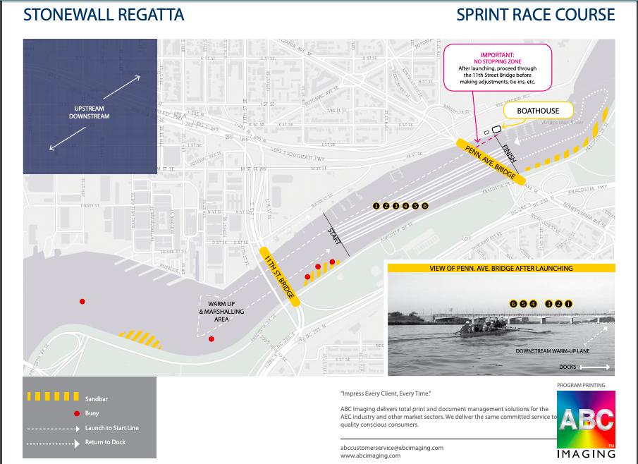 Stonewall Regatta Course Map