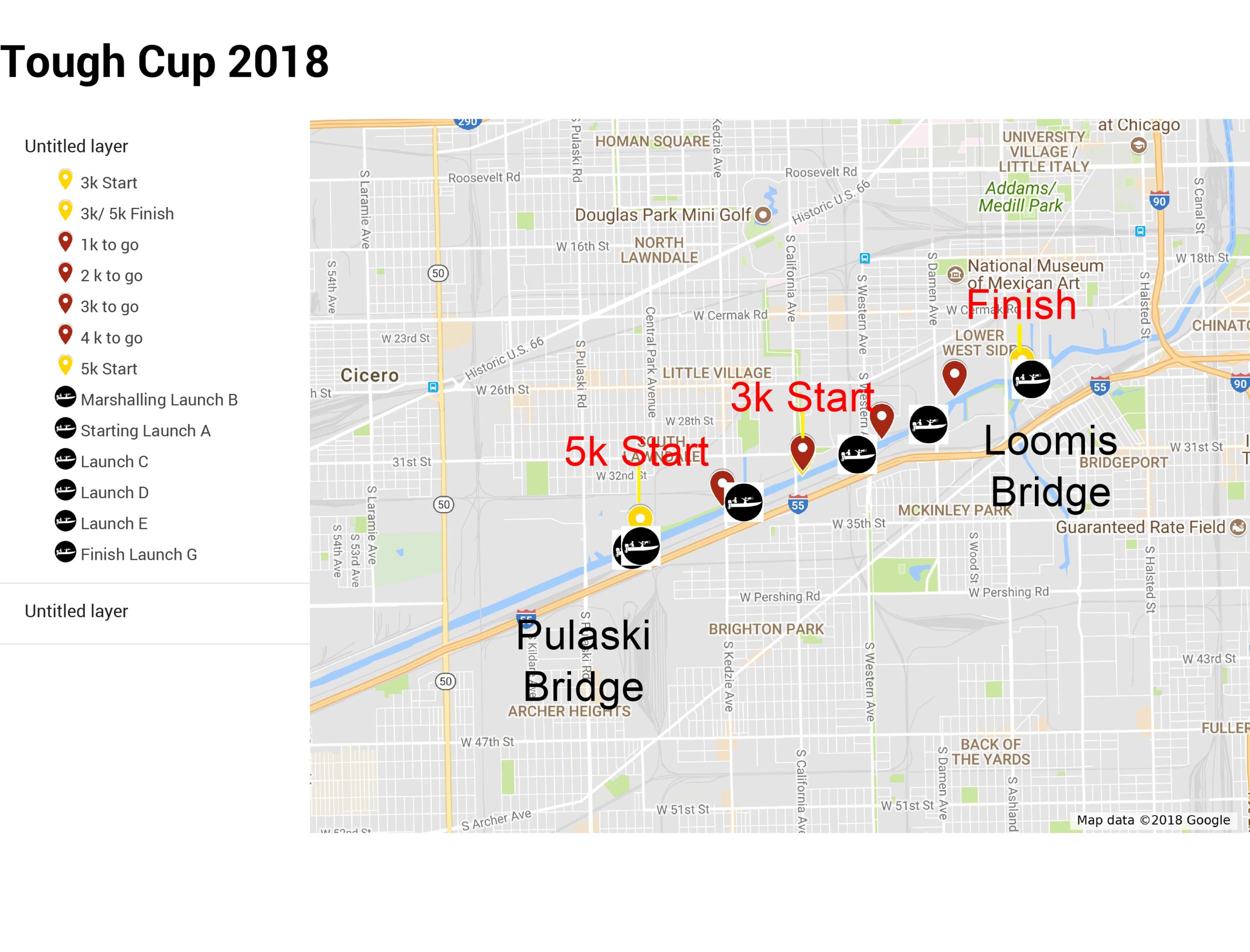 Tough Cup Course map