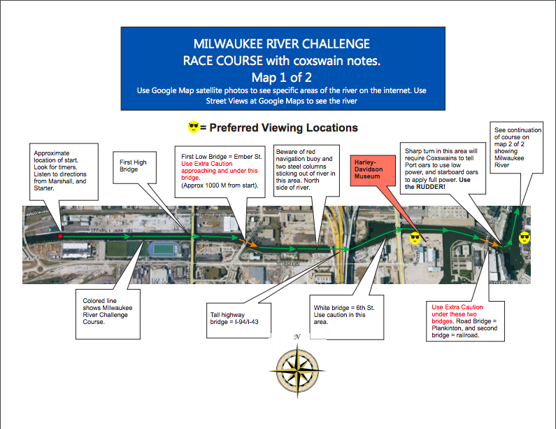 MKE River Challenge course map 1