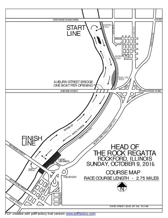 Head of the Rock Course map
