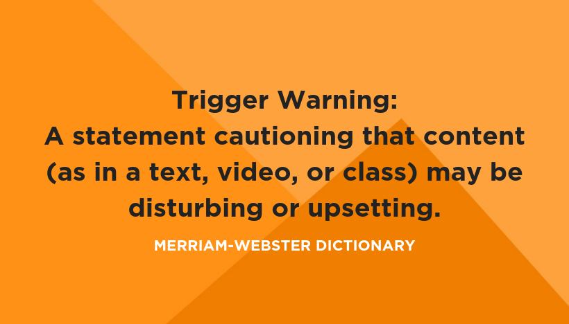 """Warning: """"a statement or event that indicates a possible or impending danger, problem, or other unpleasant situation."""" A warning  does not  imply that the unpleasant situation must also be avoided."""